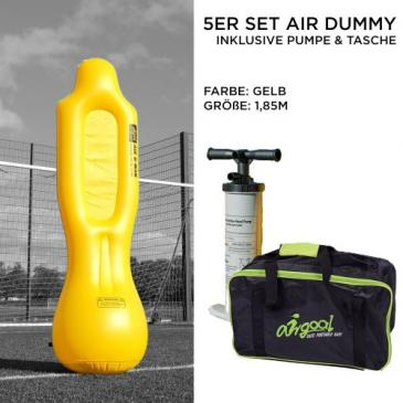 Airgoal 5er Set Air Dummy PROFESSIONAL | 1,85m